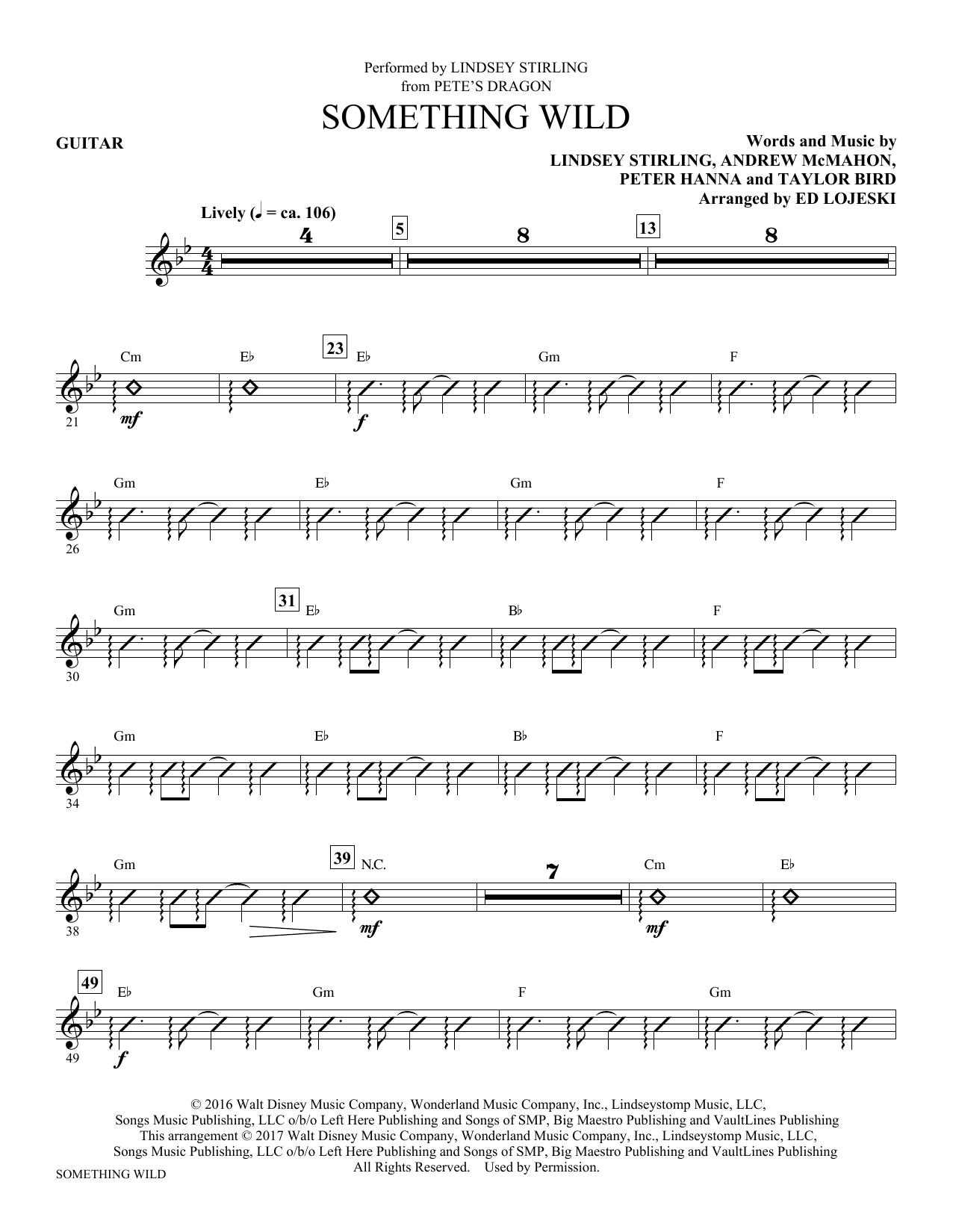 Something Wild (arr. Ed Lojeski) - Guitar Sheet Music