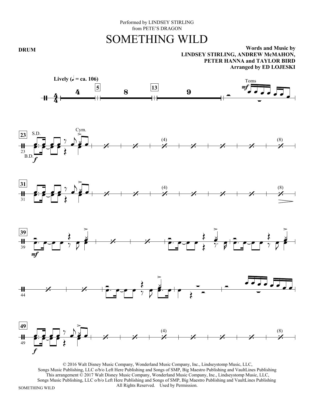 Something Wild - Drums Sheet Music