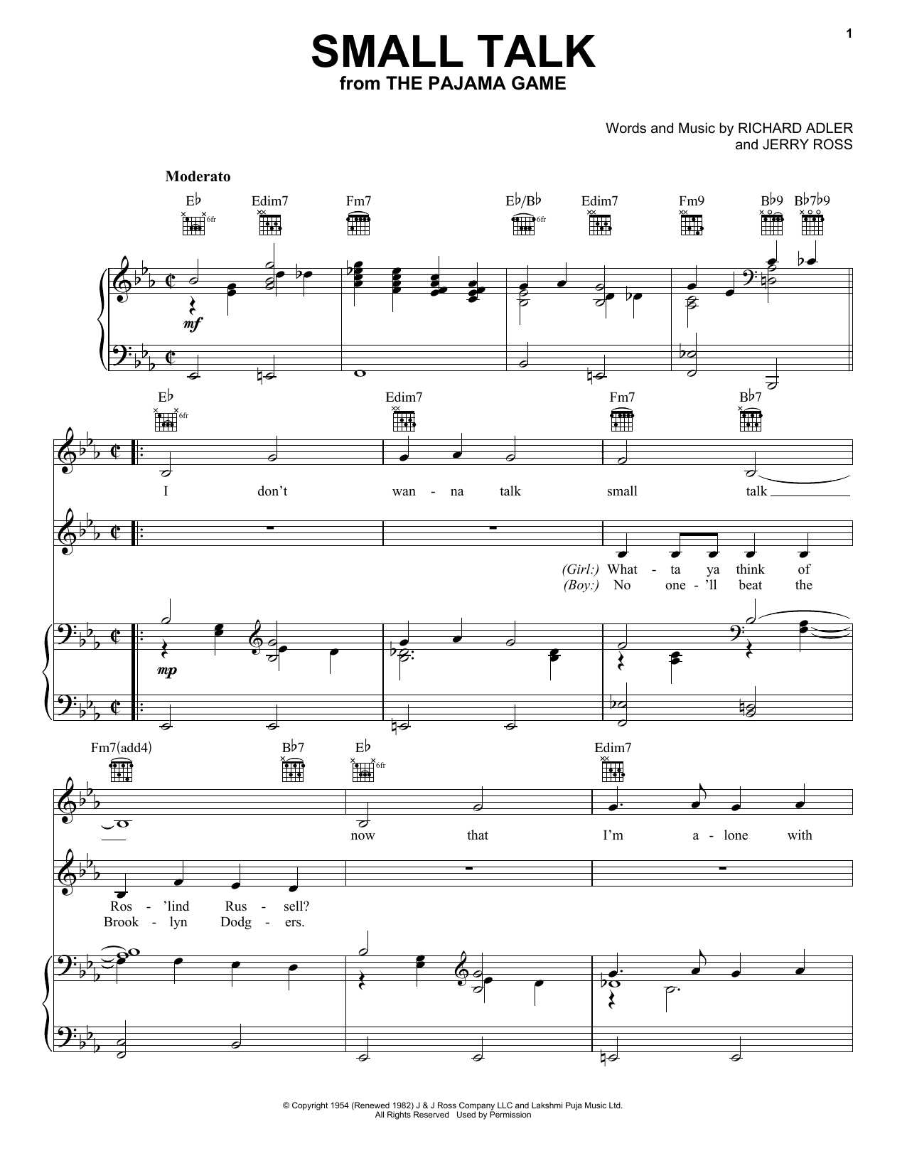 Small Talk (Piano, Vocal & Guitar (Right-Hand Melody))