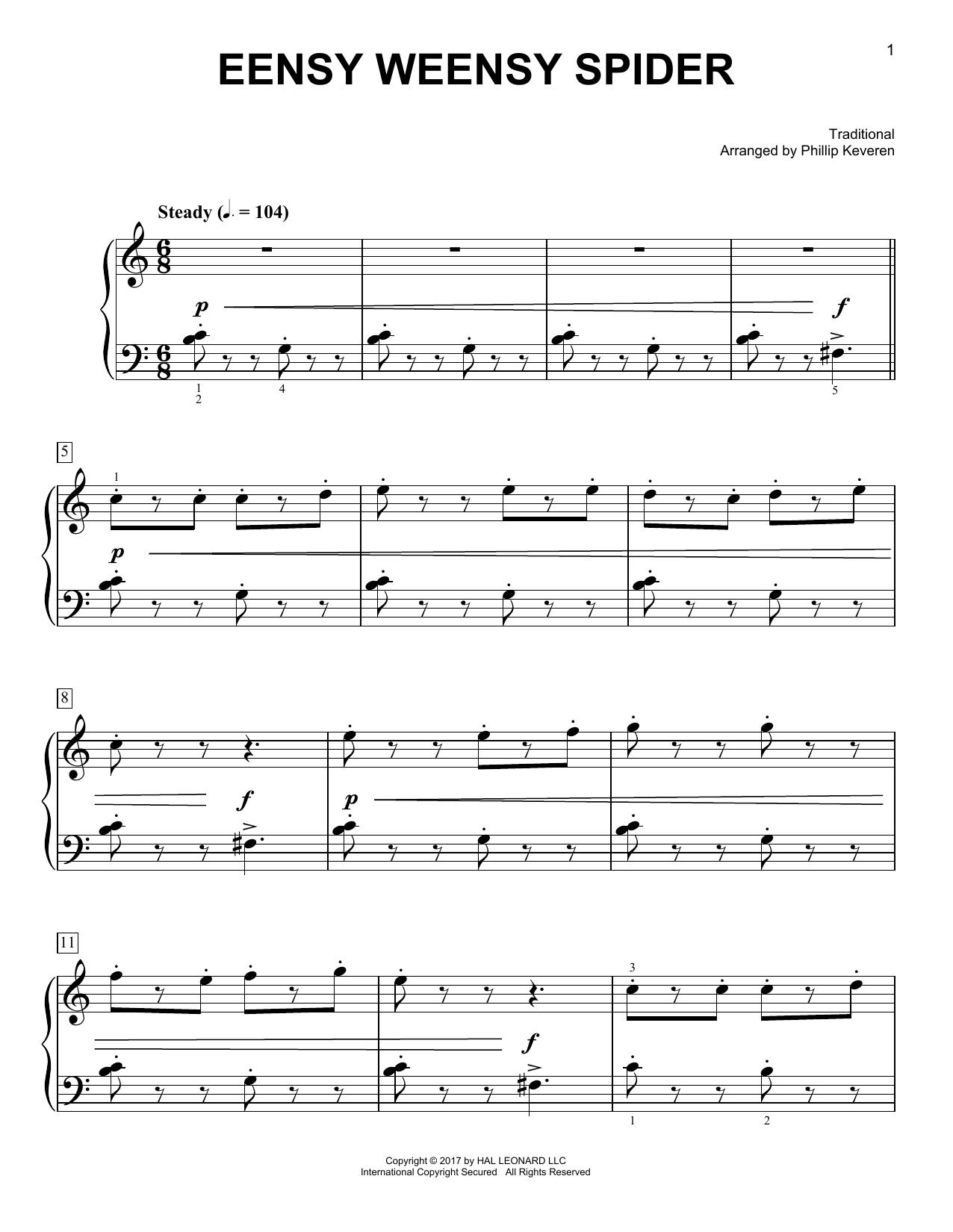 Eensy Weensy Spider (Easy Piano)
