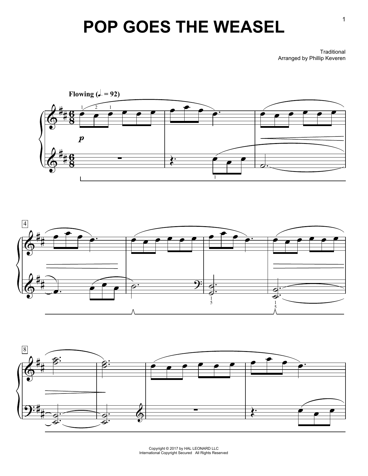 Pop Goes The Weasel [Classical version] (arr. Phillip Keveren) (Easy Piano)