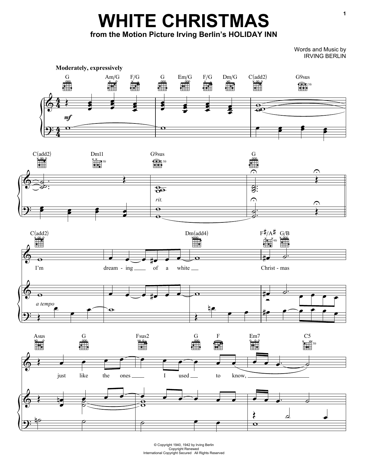 White Christmas - Print Sheet Music Now