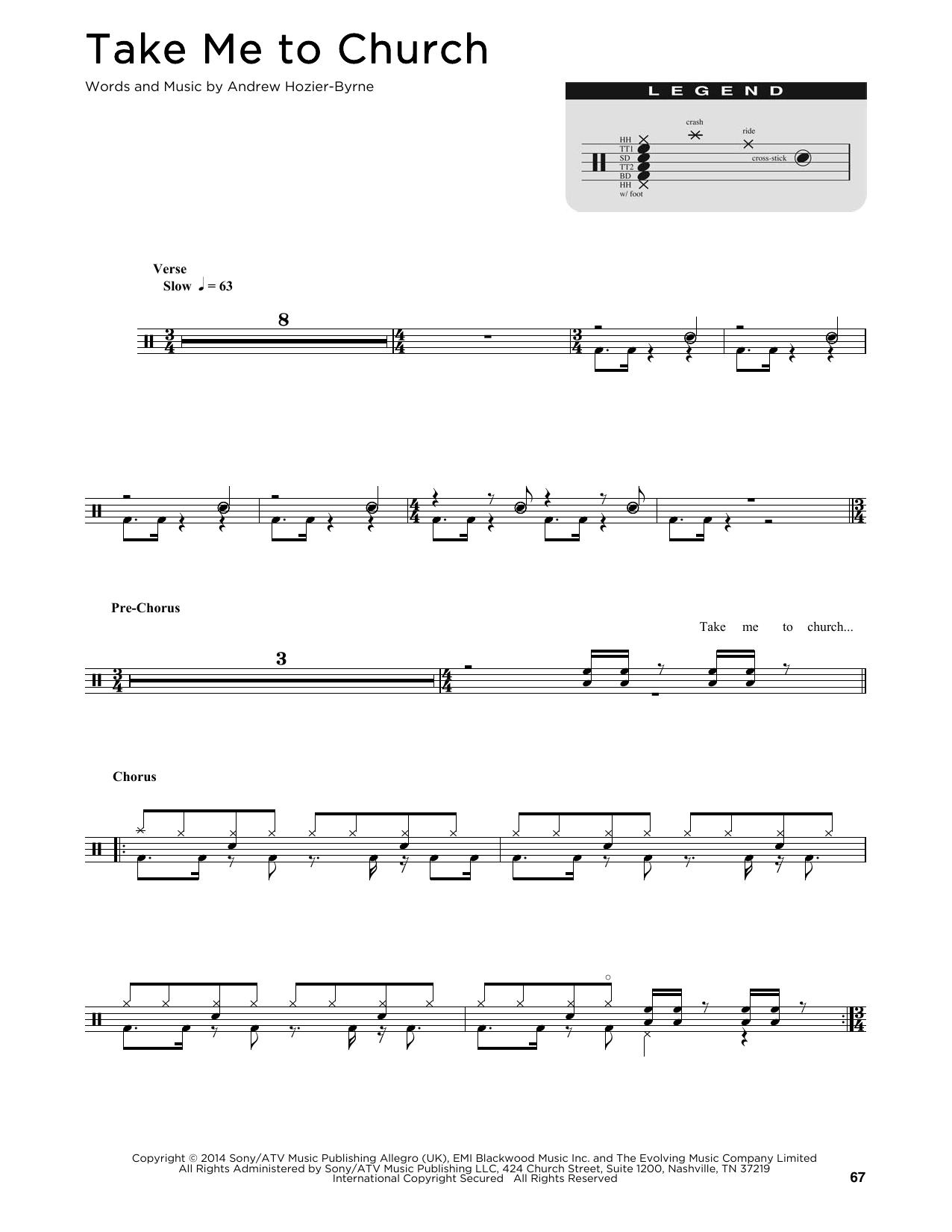 Take Me To Church (Drum Chart)