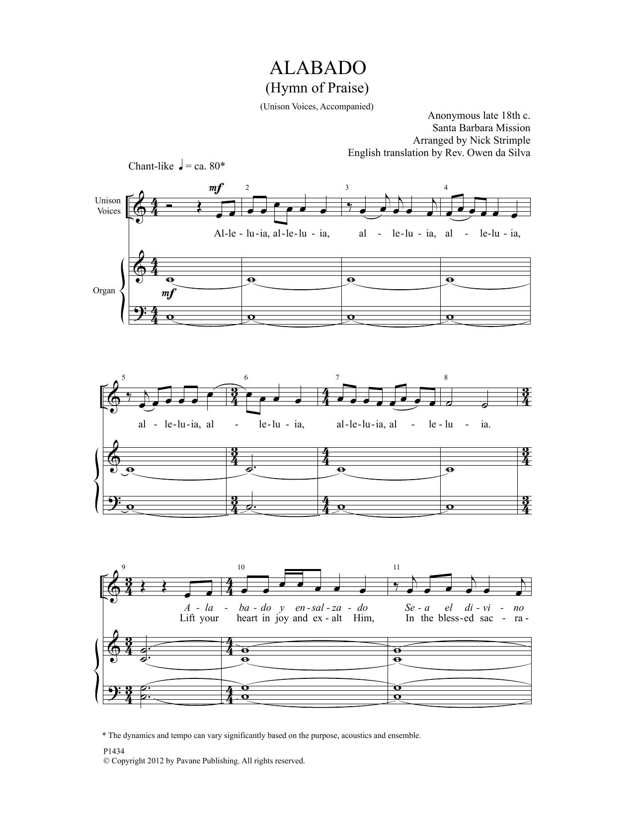 Alabado Sheet Music