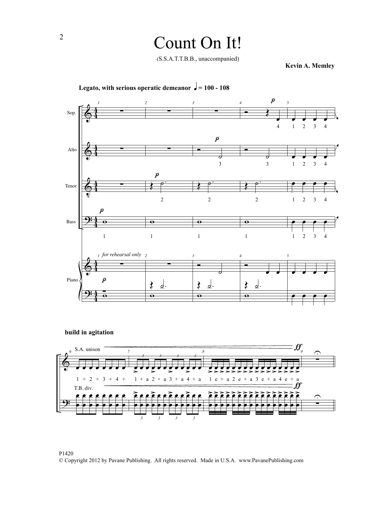 Count on It! Sheet Music