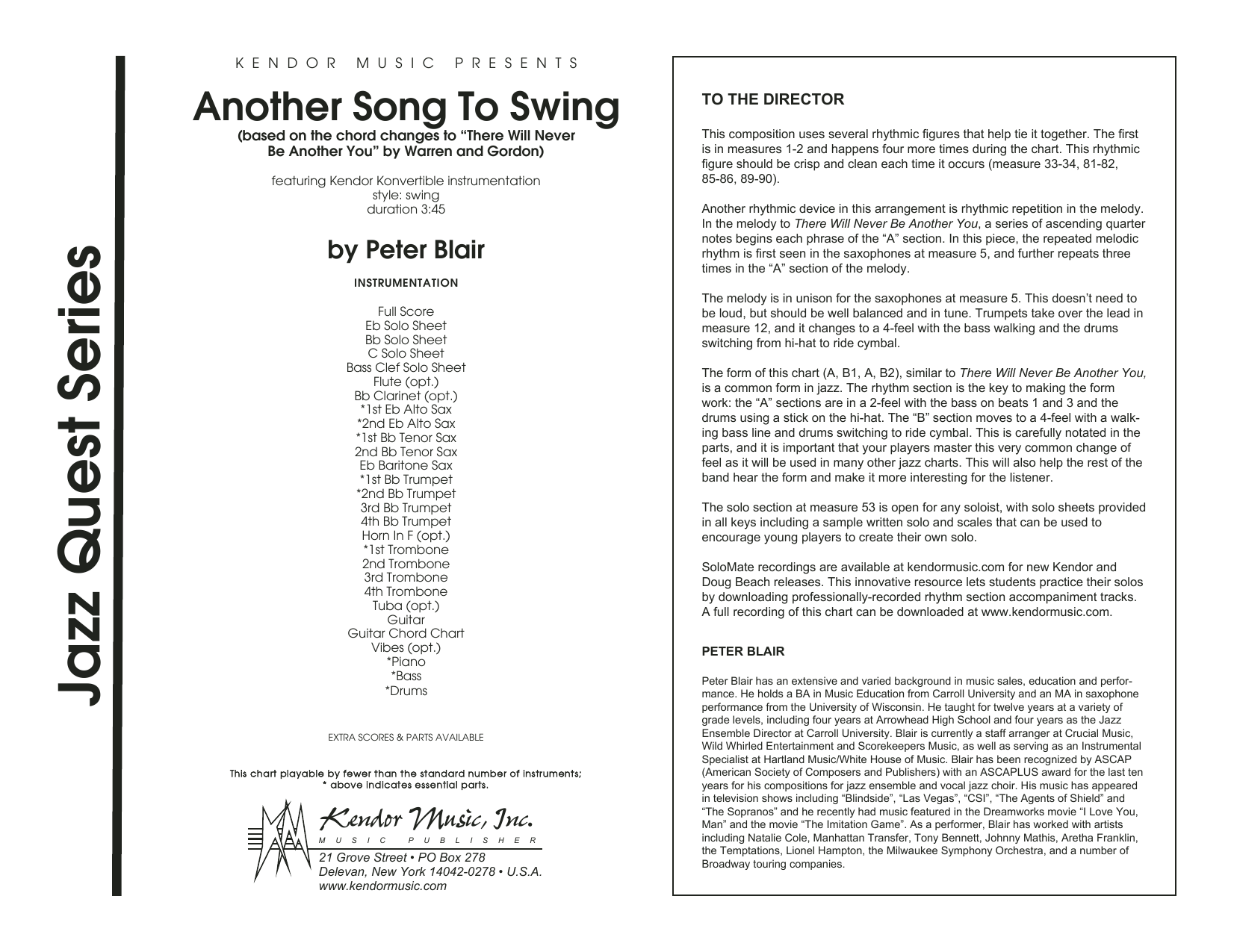 Another Song To Swing - Full Score Sheet Music