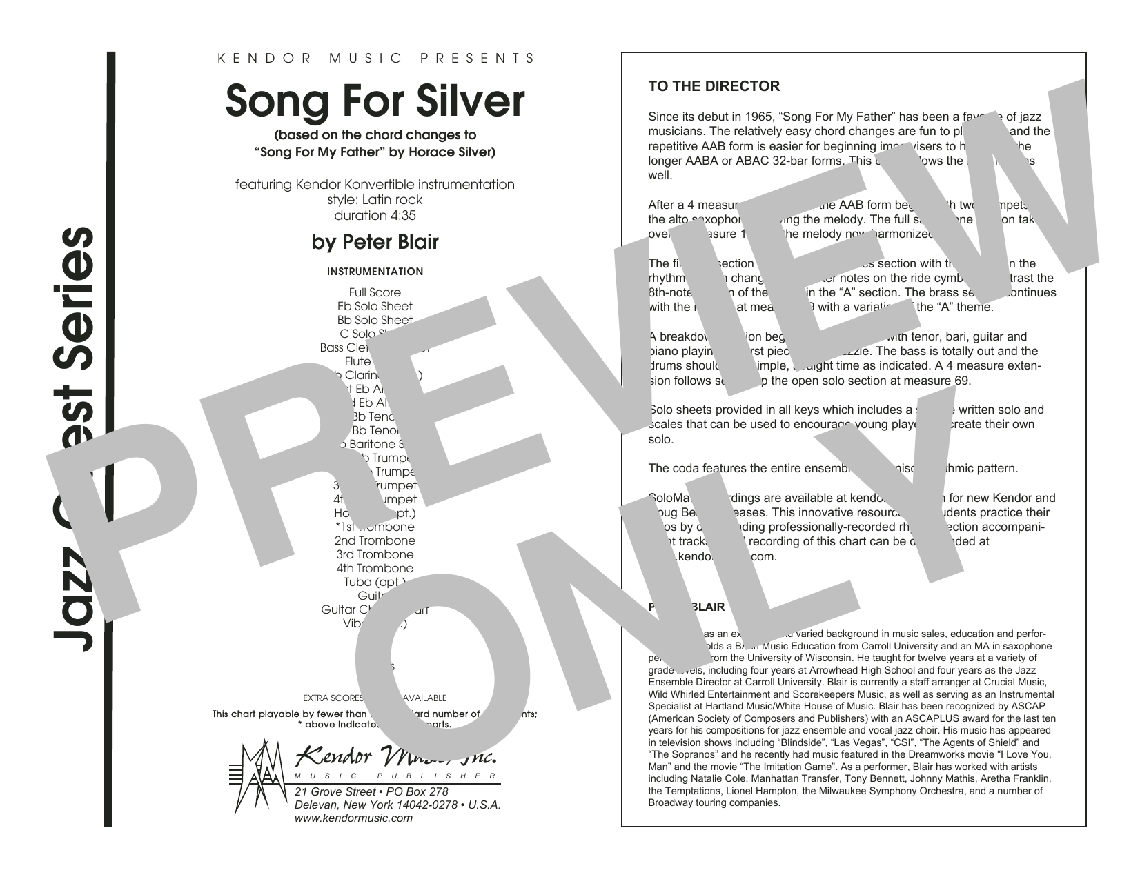 Song For Silver (based on the chord changes to