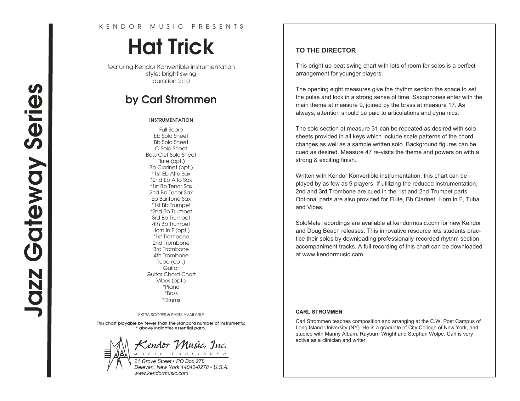 Hat Trick - Full Score Sheet Music