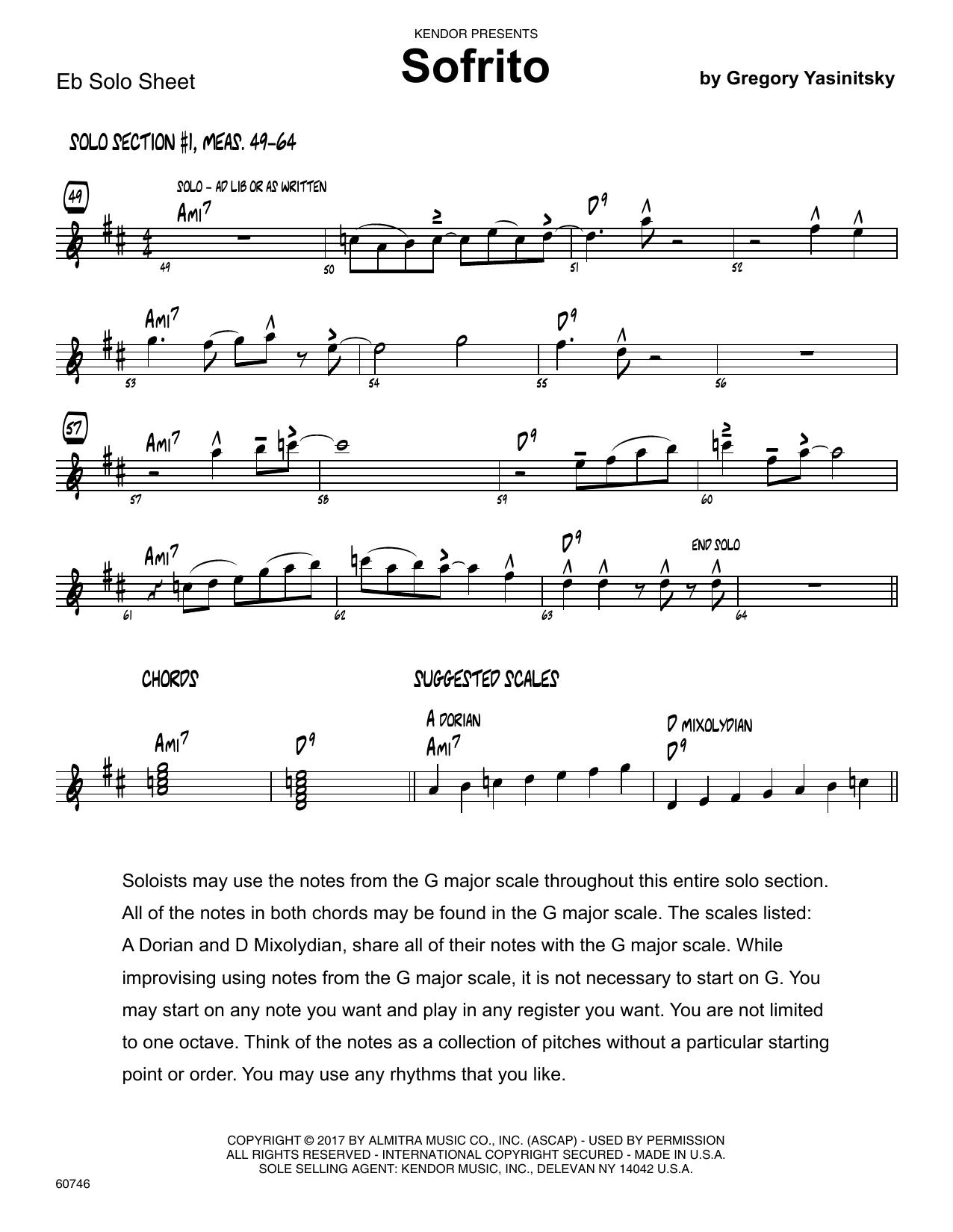 Sofrito - Solo Sheet - Alto Sax Sheet Music