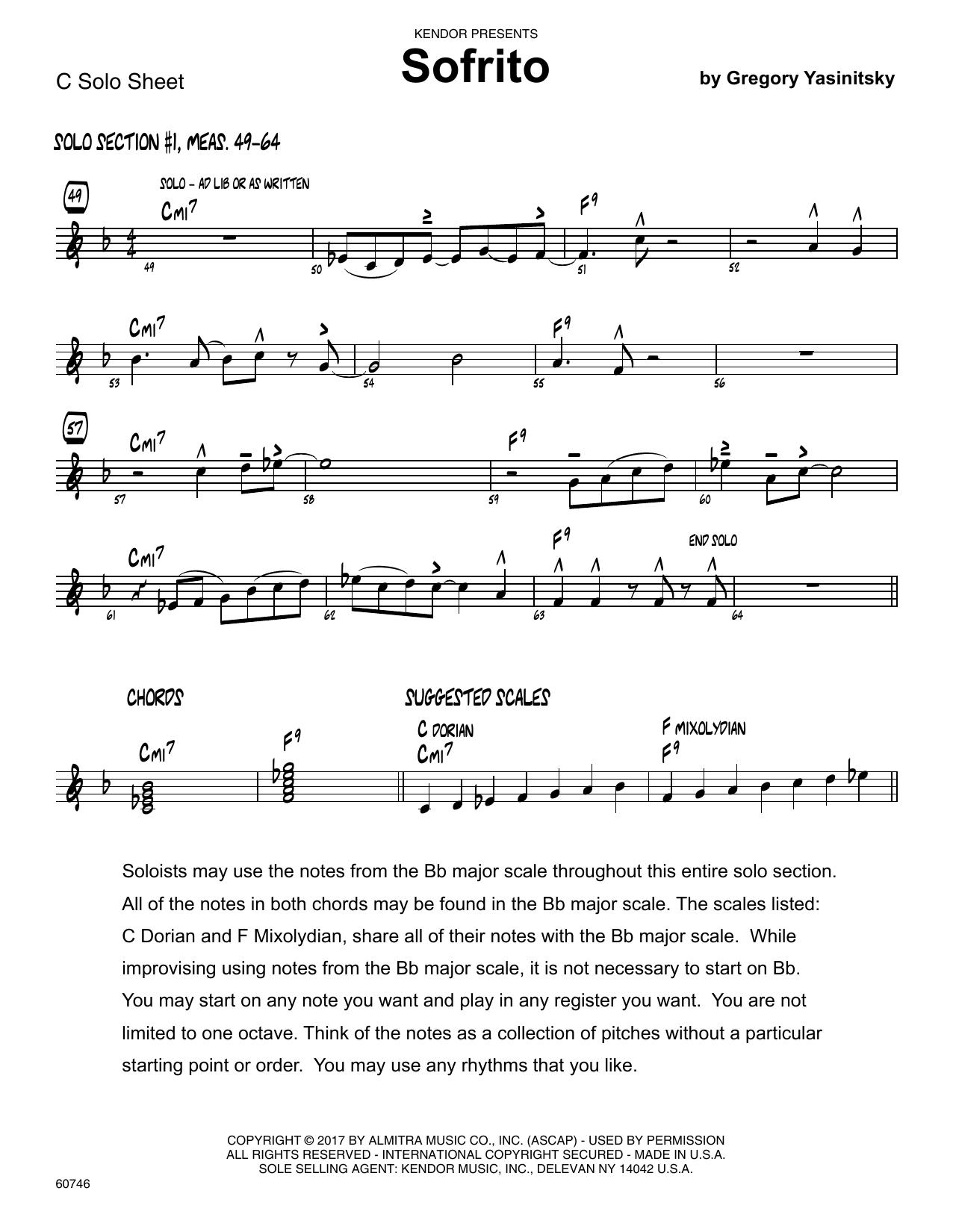 Sofrito - Solo Sheet - Trumpet Sheet Music