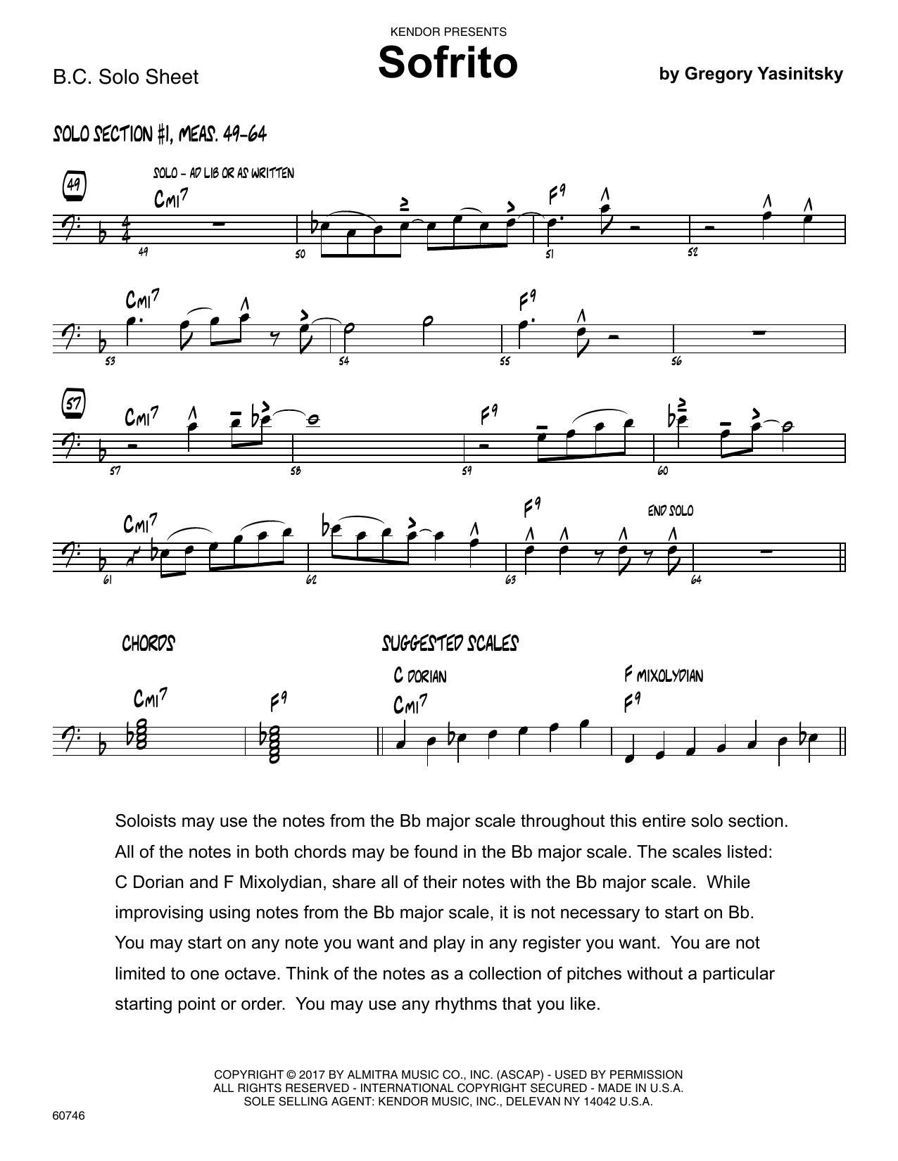 Sofrito - Solo Sheet - Trombone Partition Digitale