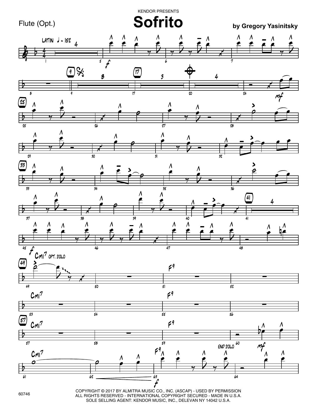 Sofrito - Flute Sheet Music