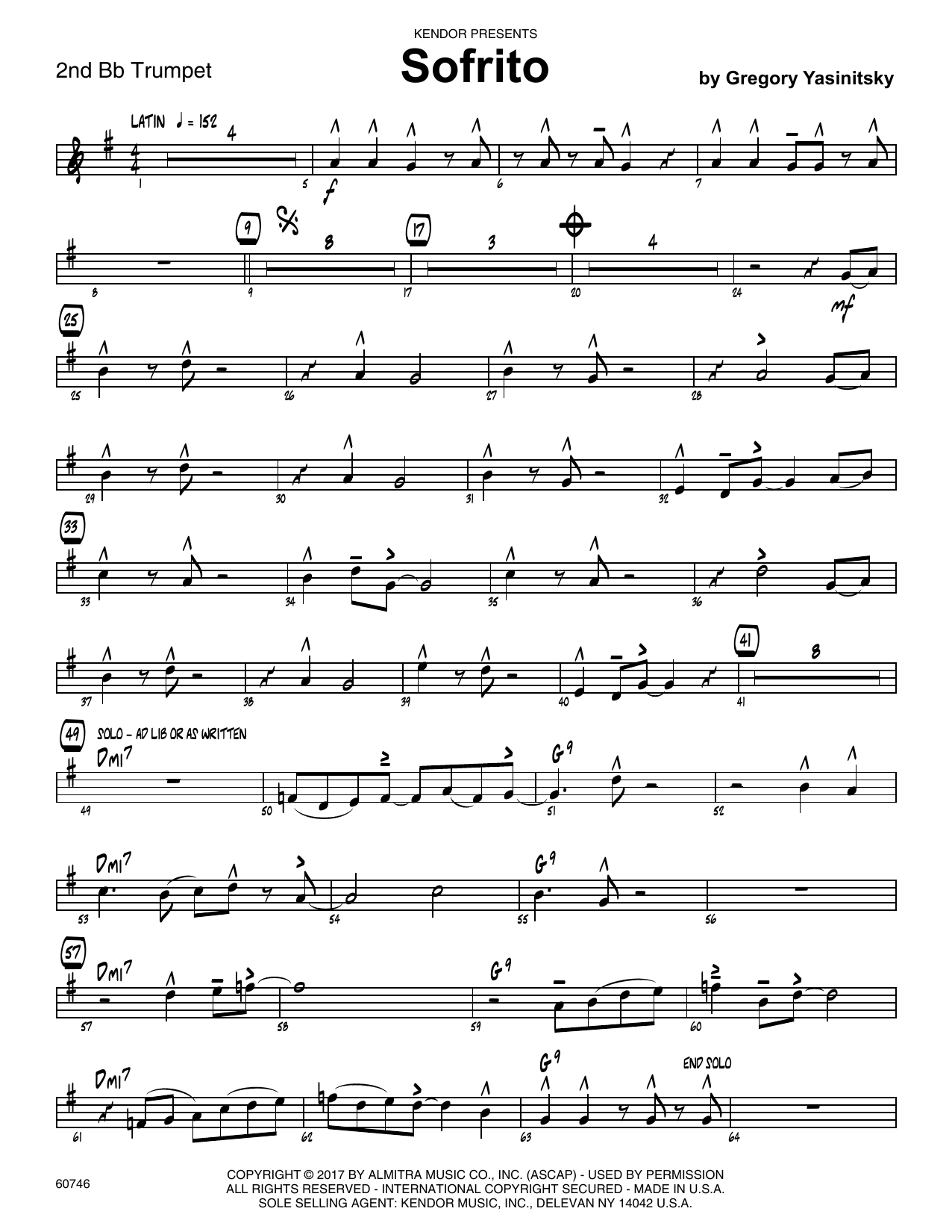 Sofrito - 2nd Bb Trumpet Sheet Music