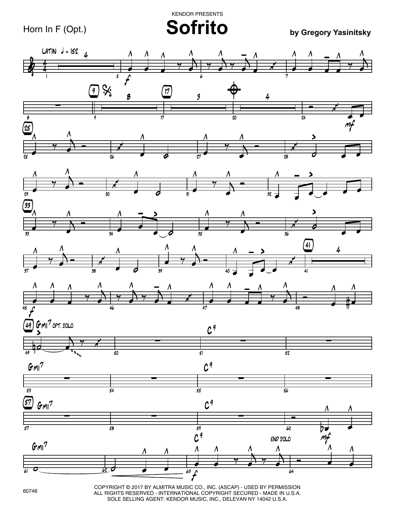 Sofrito - Horn in F Sheet Music