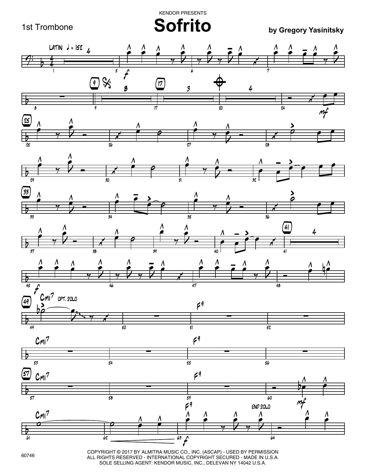 Sofrito - 1st Trombone Sheet Music