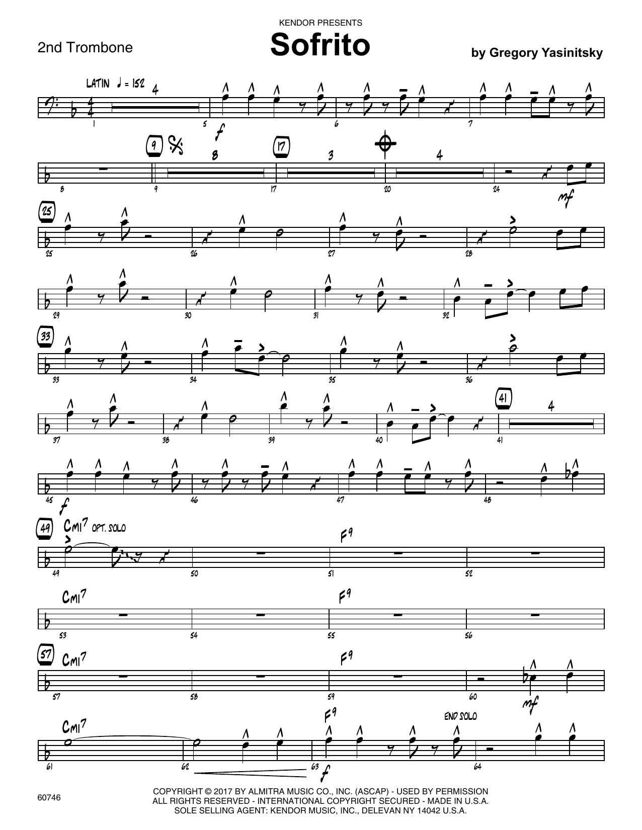 Sofrito - 2nd Trombone Sheet Music