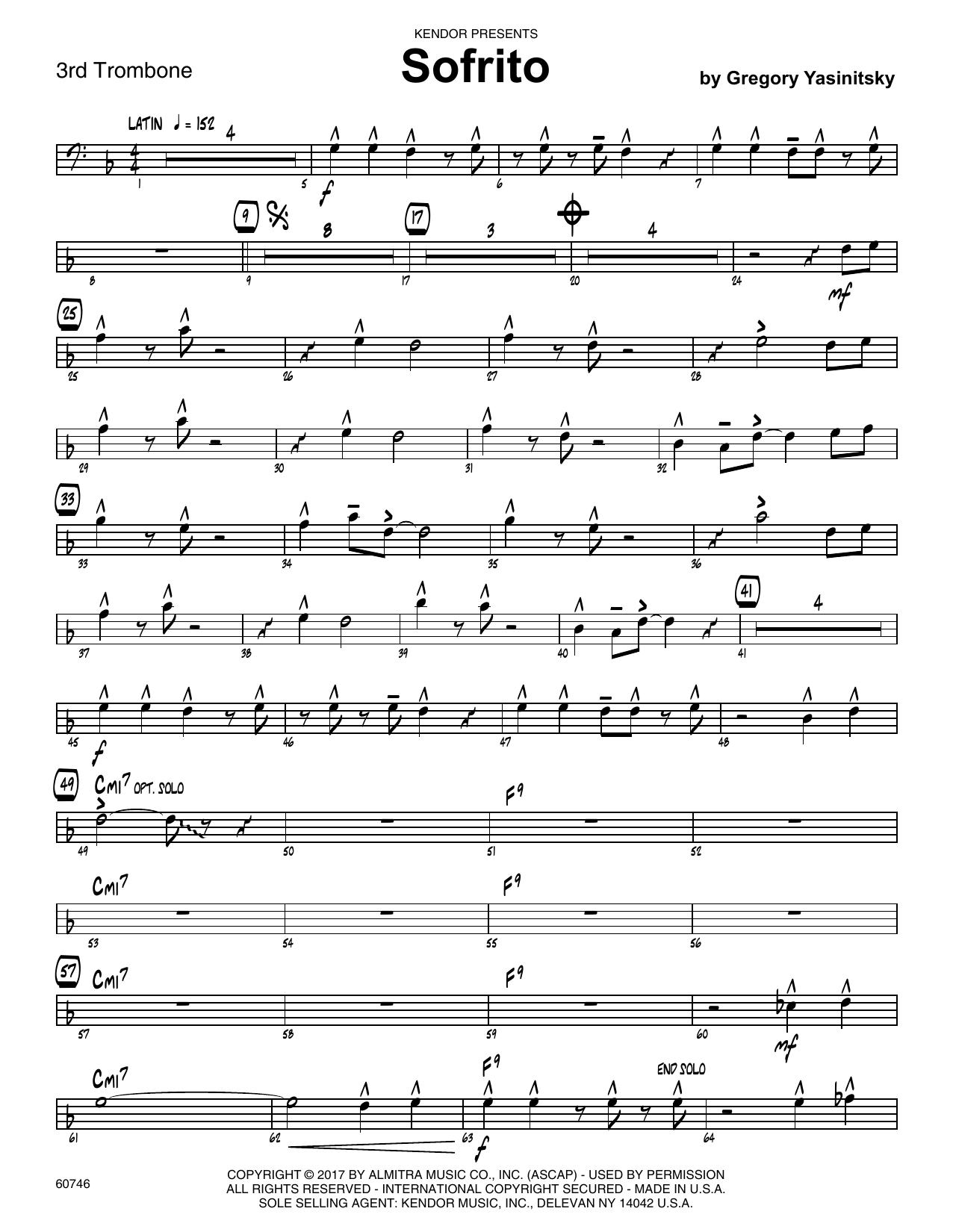 Sofrito - 3rd Trombone Sheet Music
