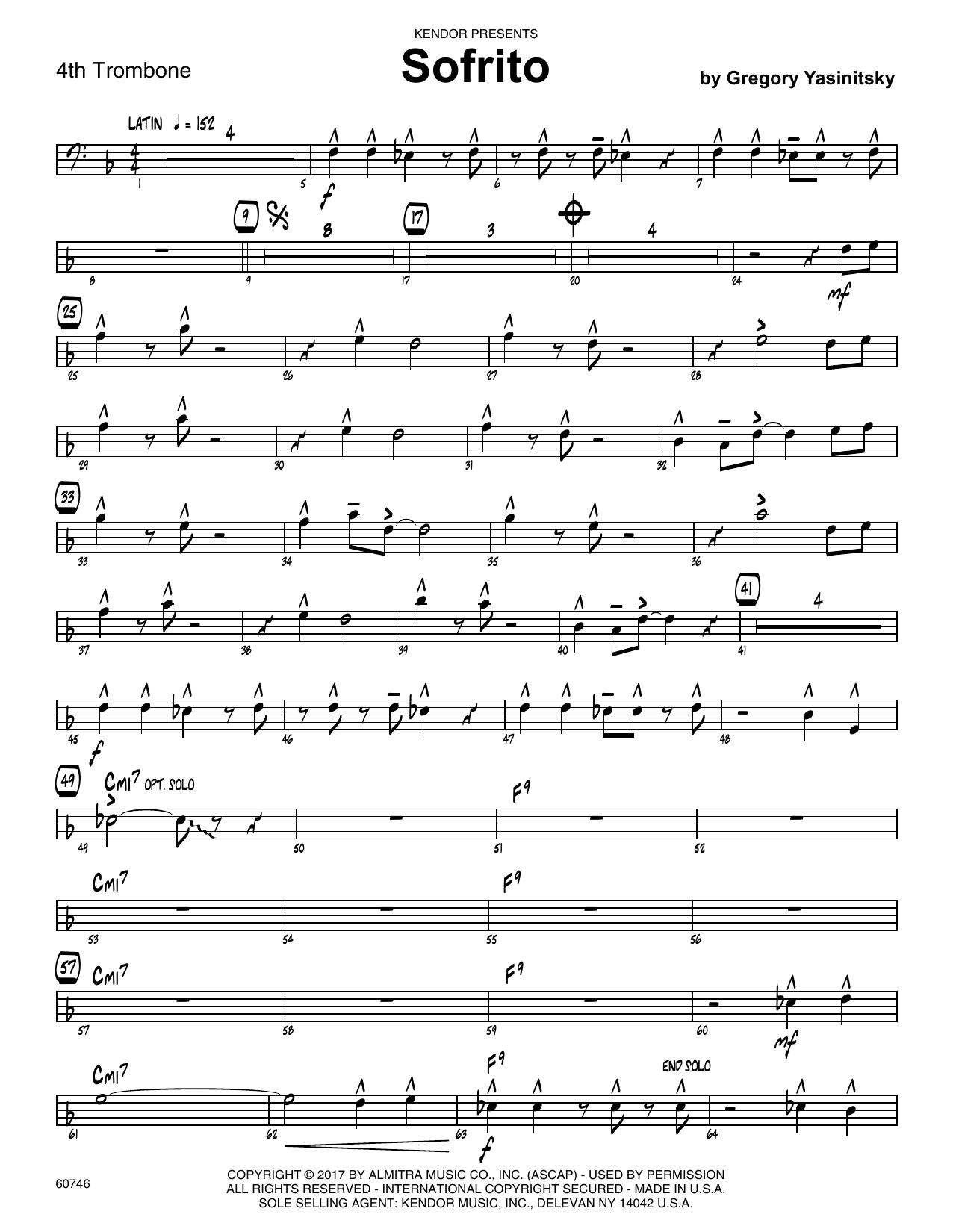 Sofrito - 4th Trombone Sheet Music
