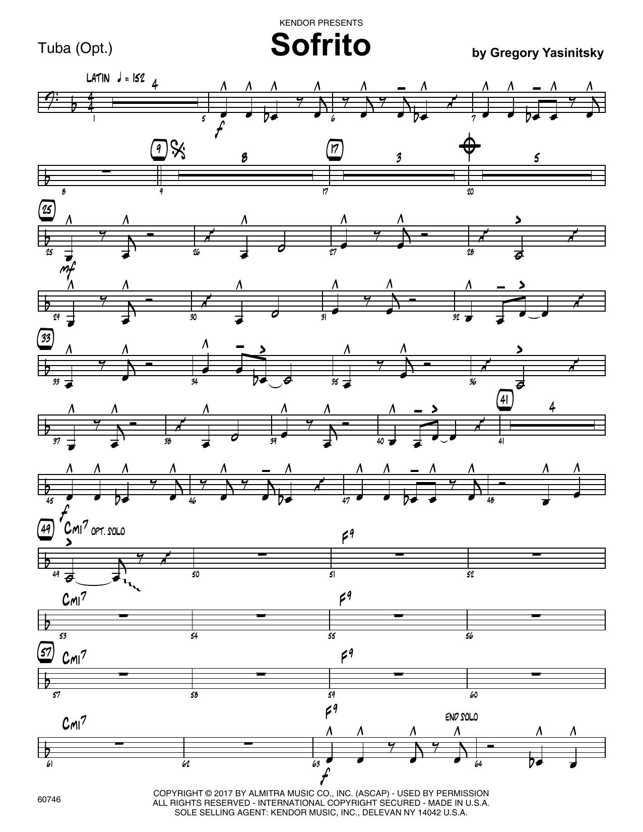 Sofrito - Tuba Sheet Music