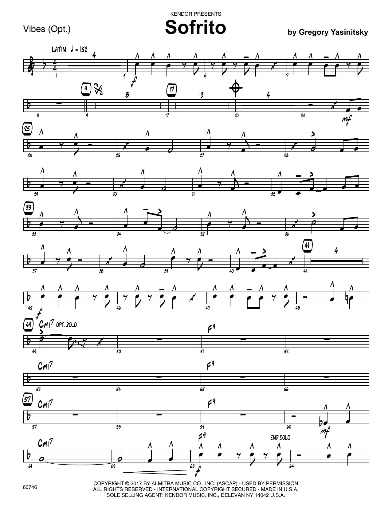 Sofrito - Vibes Sheet Music