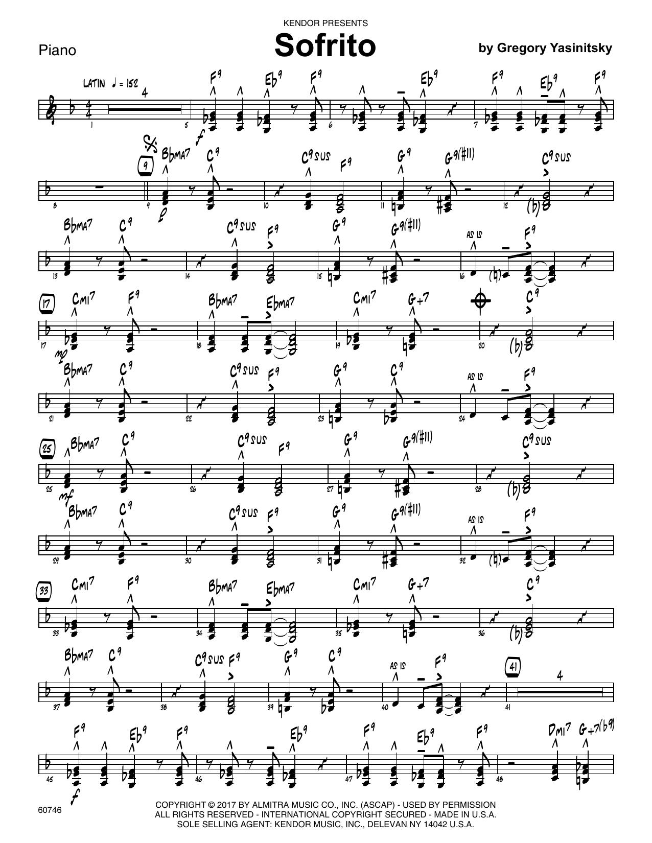 Sofrito - Piano Sheet Music