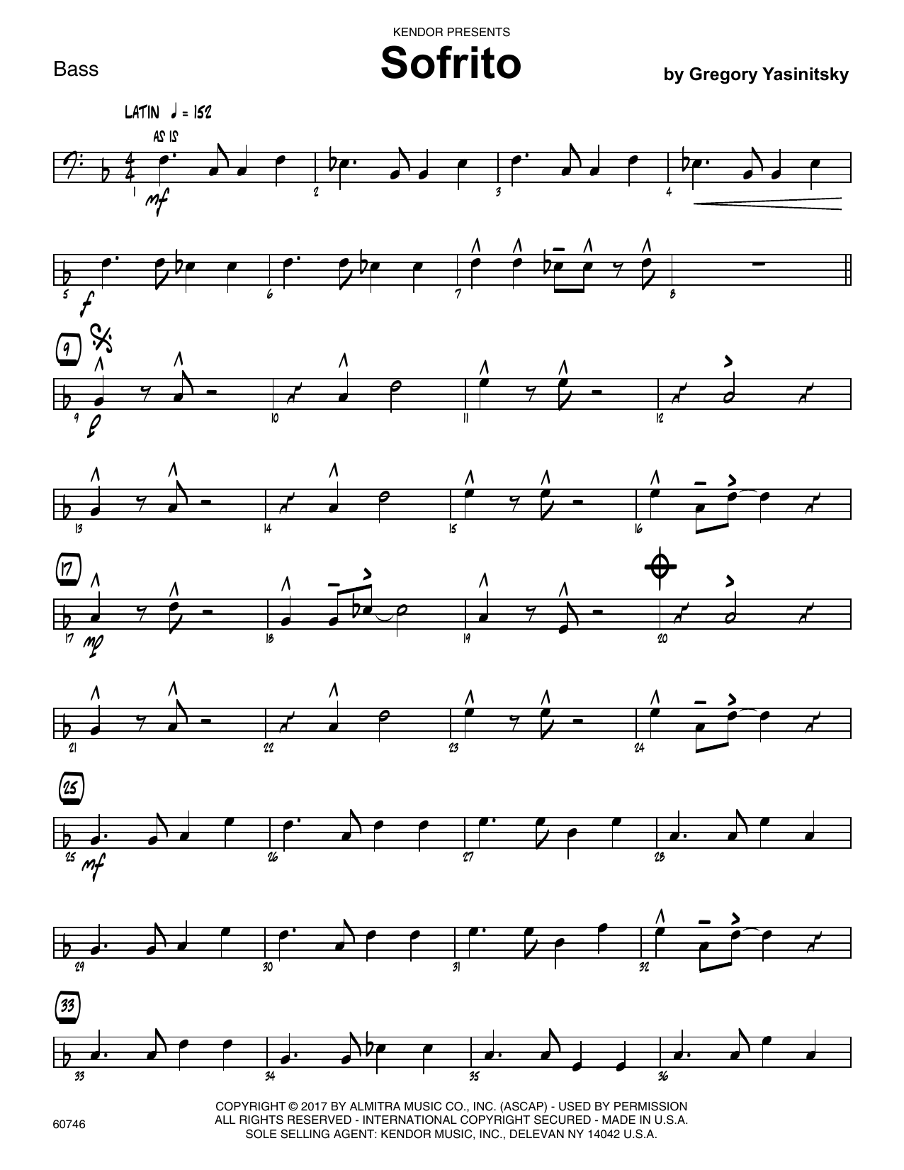 Sofrito - Bass Sheet Music