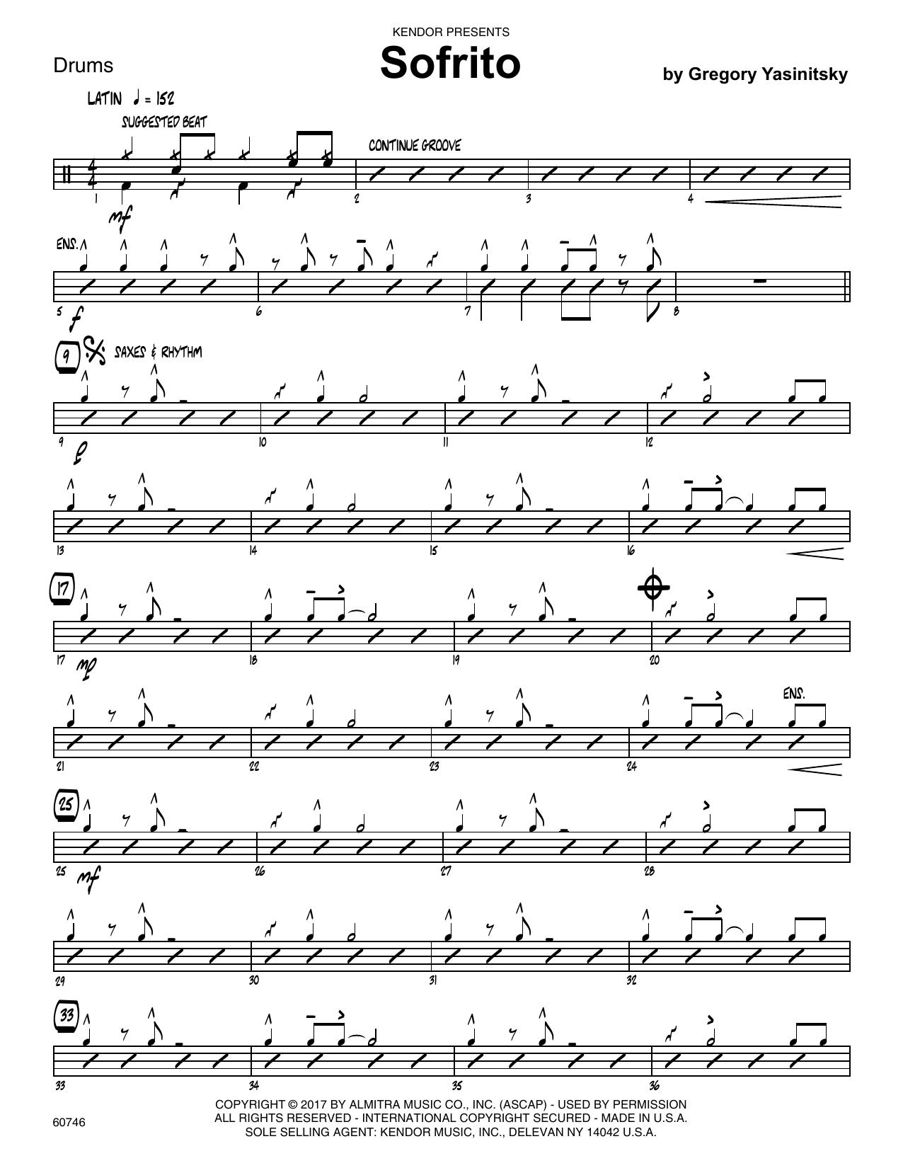 Sofrito - Drum Set Sheet Music