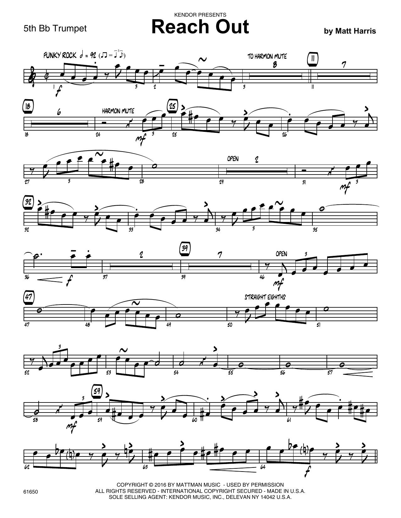 Reach Out - Trumpet 5 in Bb Partition Digitale