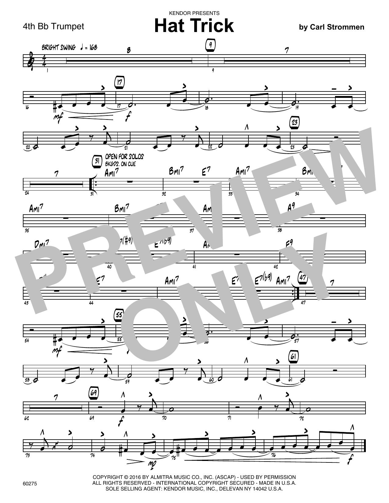 Hat Trick - 4th Bb Trumpet Sheet Music