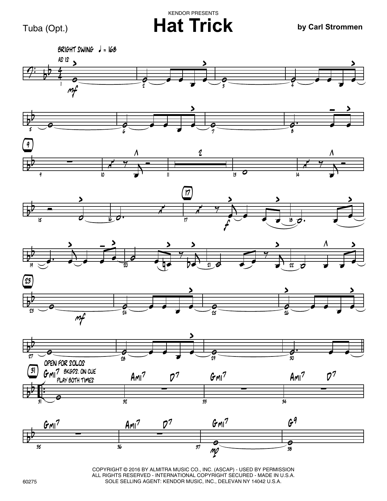 Hat Trick - Tuba Sheet Music