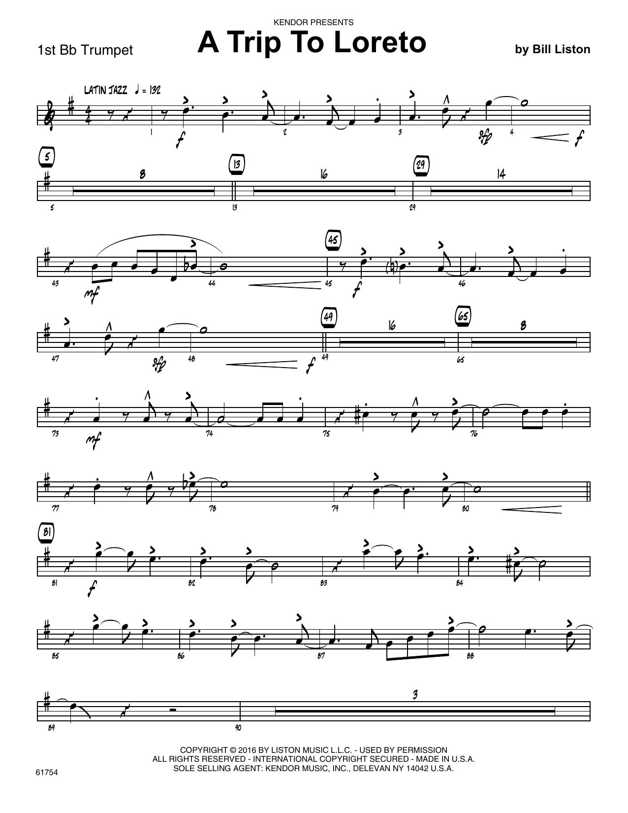 A Trip To Loreto - 1st Bb Trumpet Sheet Music