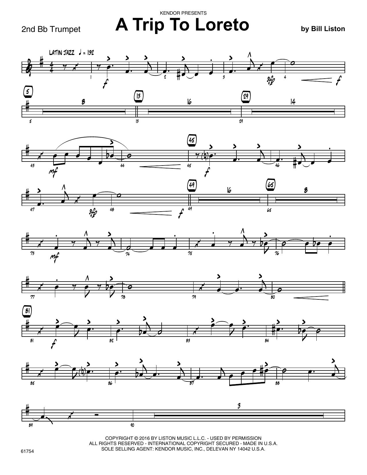 A Trip To Loreto - 2nd Bb Trumpet Sheet Music
