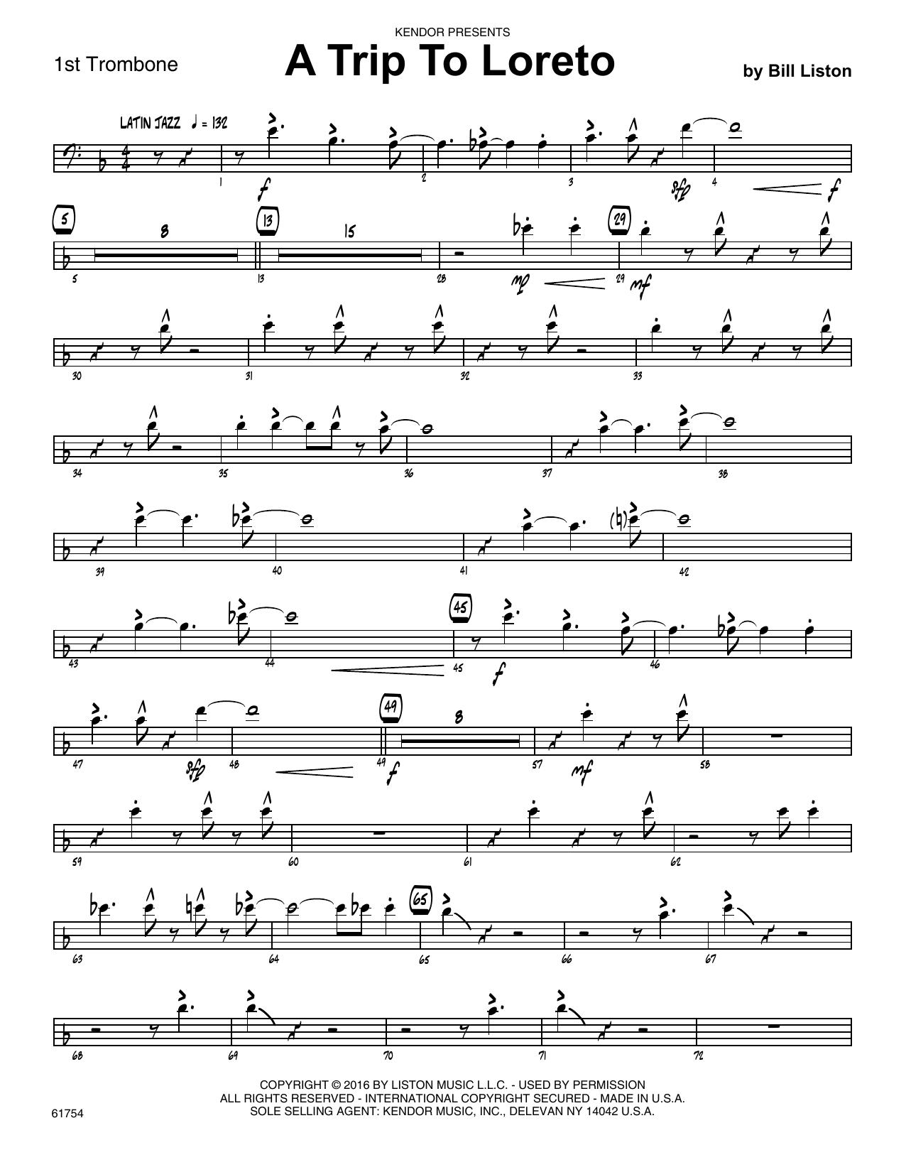 A Trip To Loreto - 1st Trombone Sheet Music