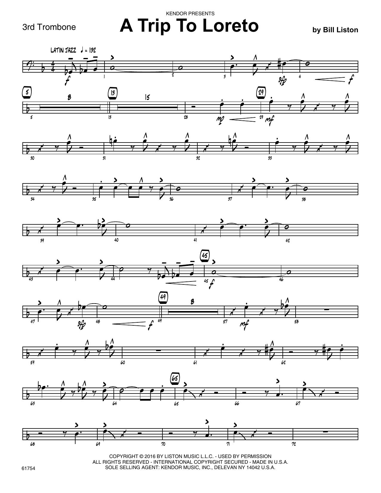 A Trip To Loreto - 3rd Trombone Sheet Music