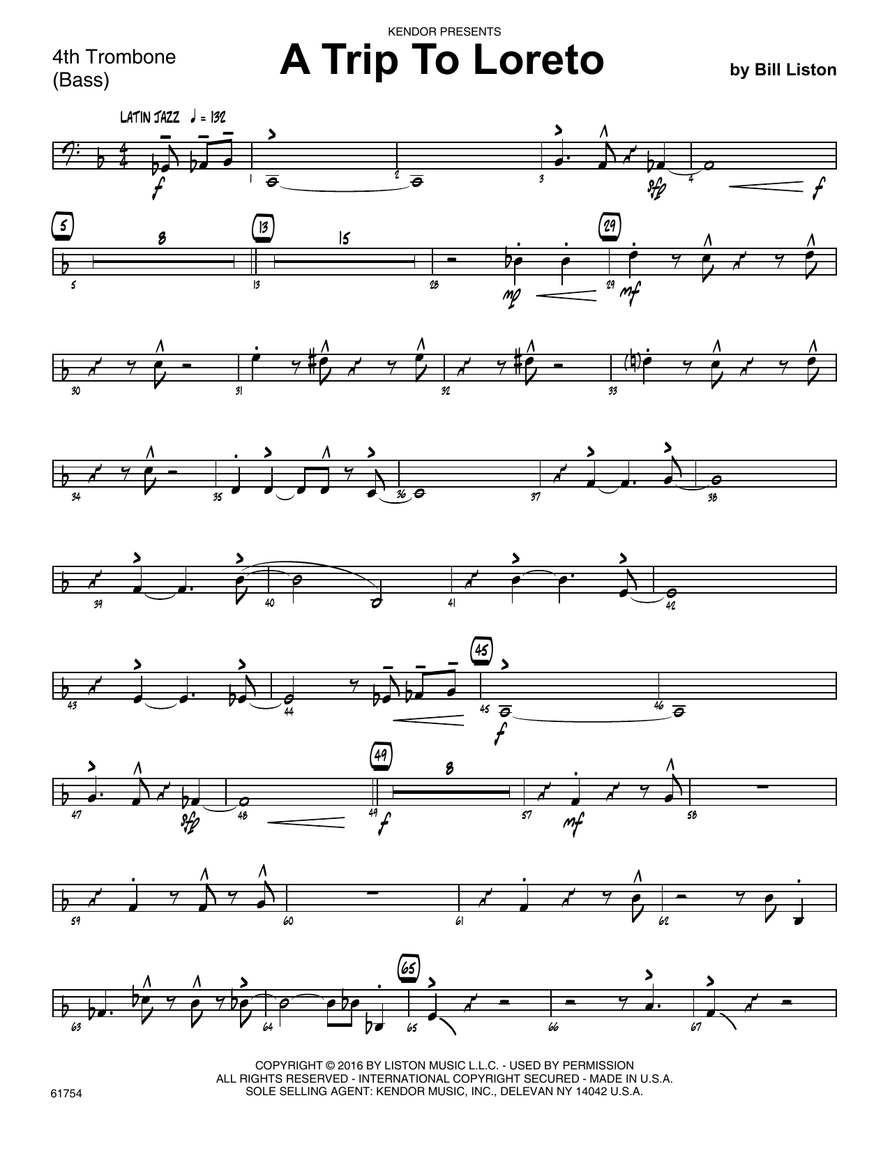A Trip To Loreto - 4th Trombone Sheet Music