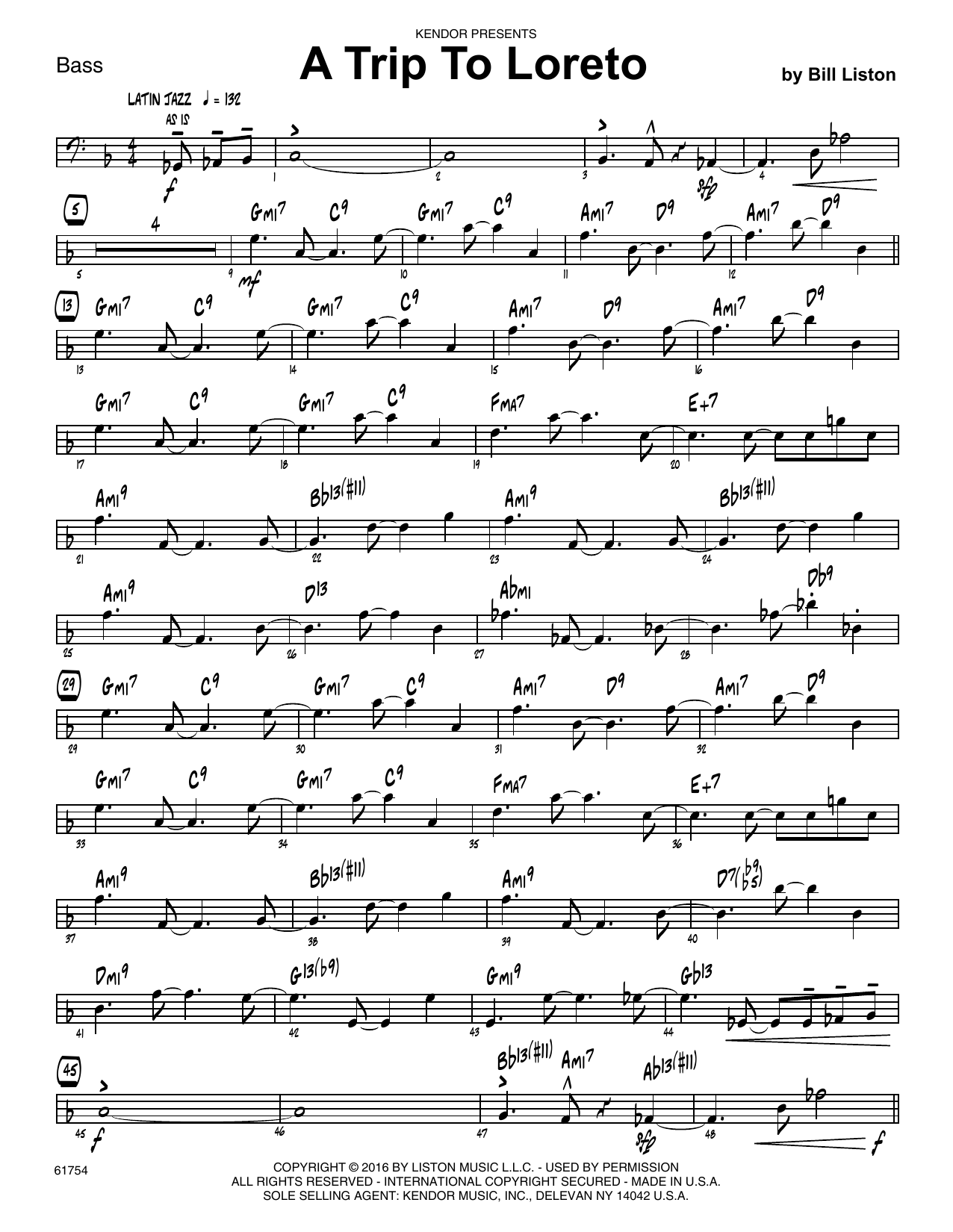 A Trip To Loreto - Bass Sheet Music