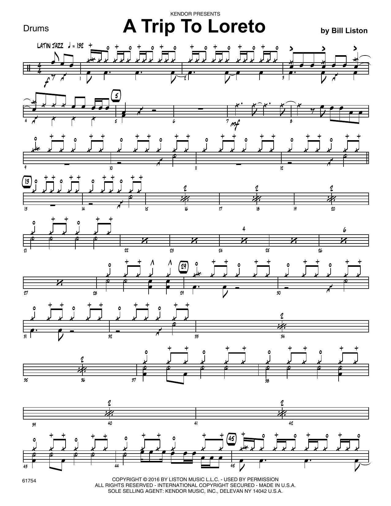 A Trip To Loreto - Drum Set Sheet Music