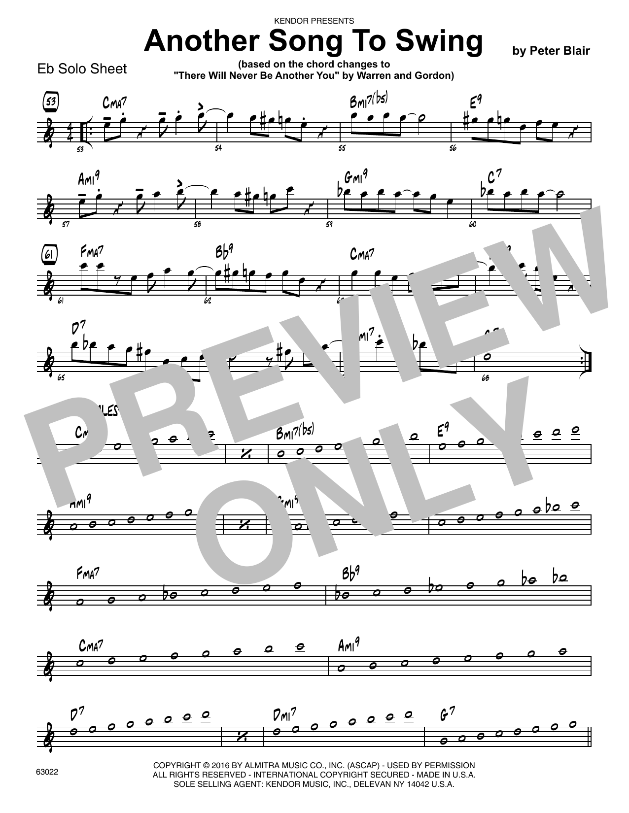 Another Song To Swing - Eb Solo Sheet Sheet Music