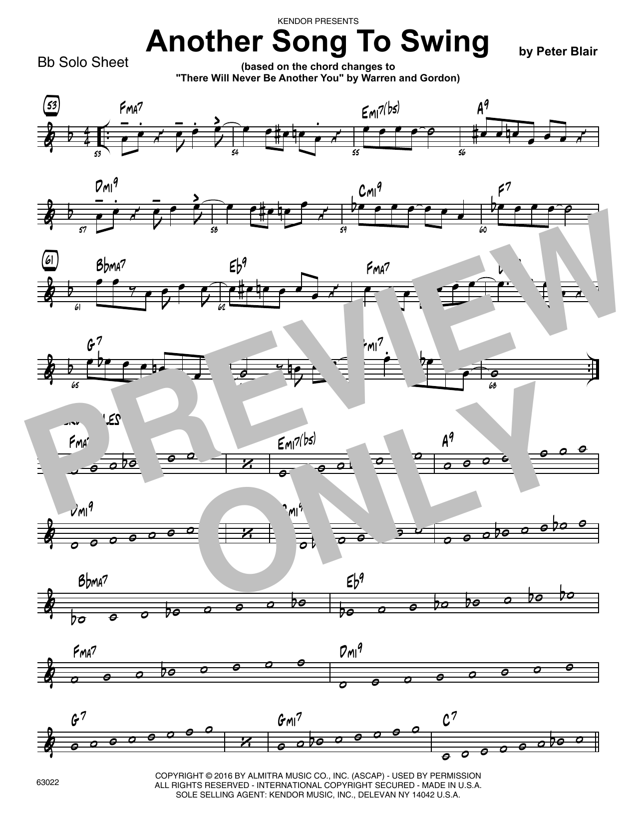 Another Song To Swing - Bb Solo Sheet Sheet Music