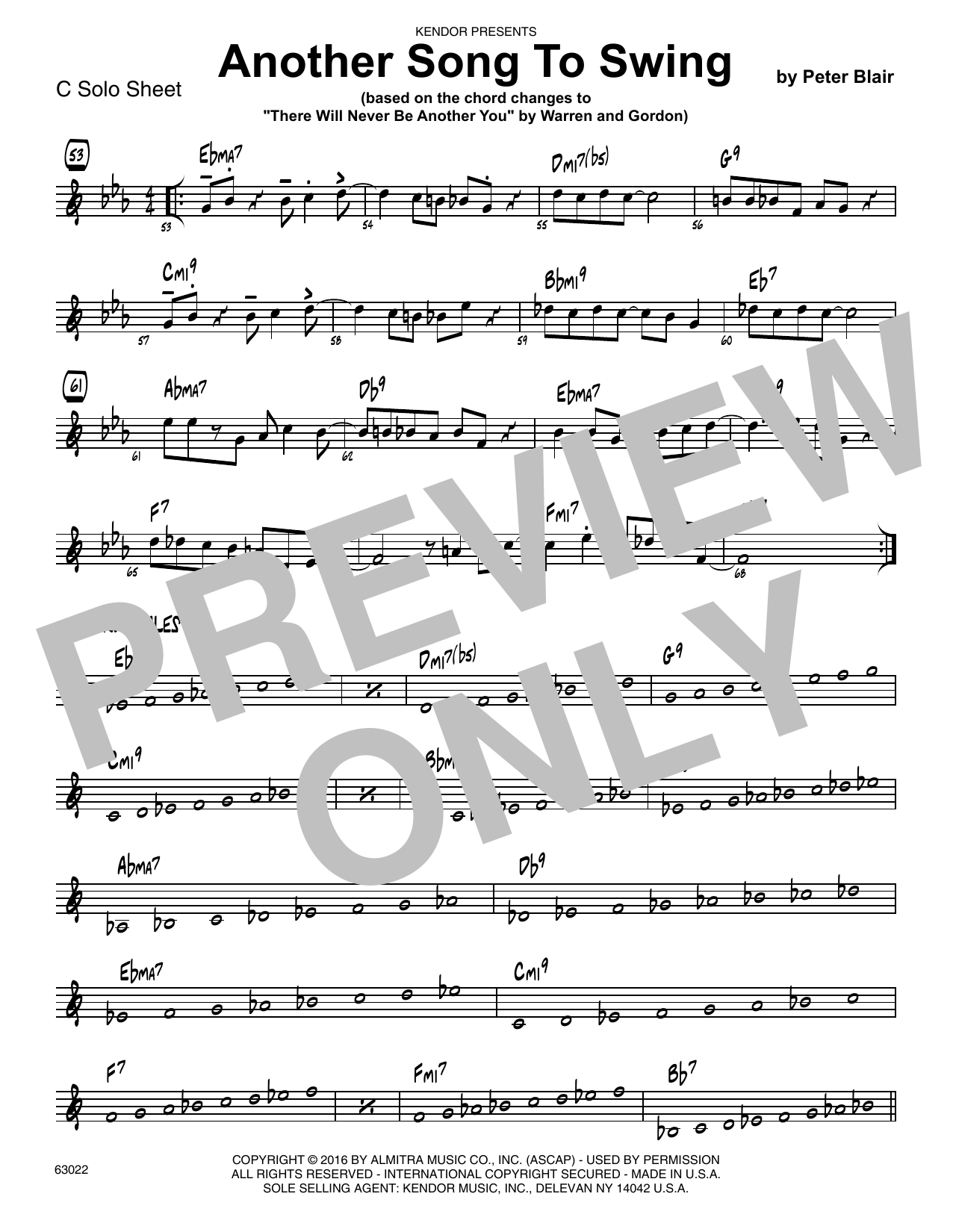 Another Song To Swing - C Solo Sheet Sheet Music