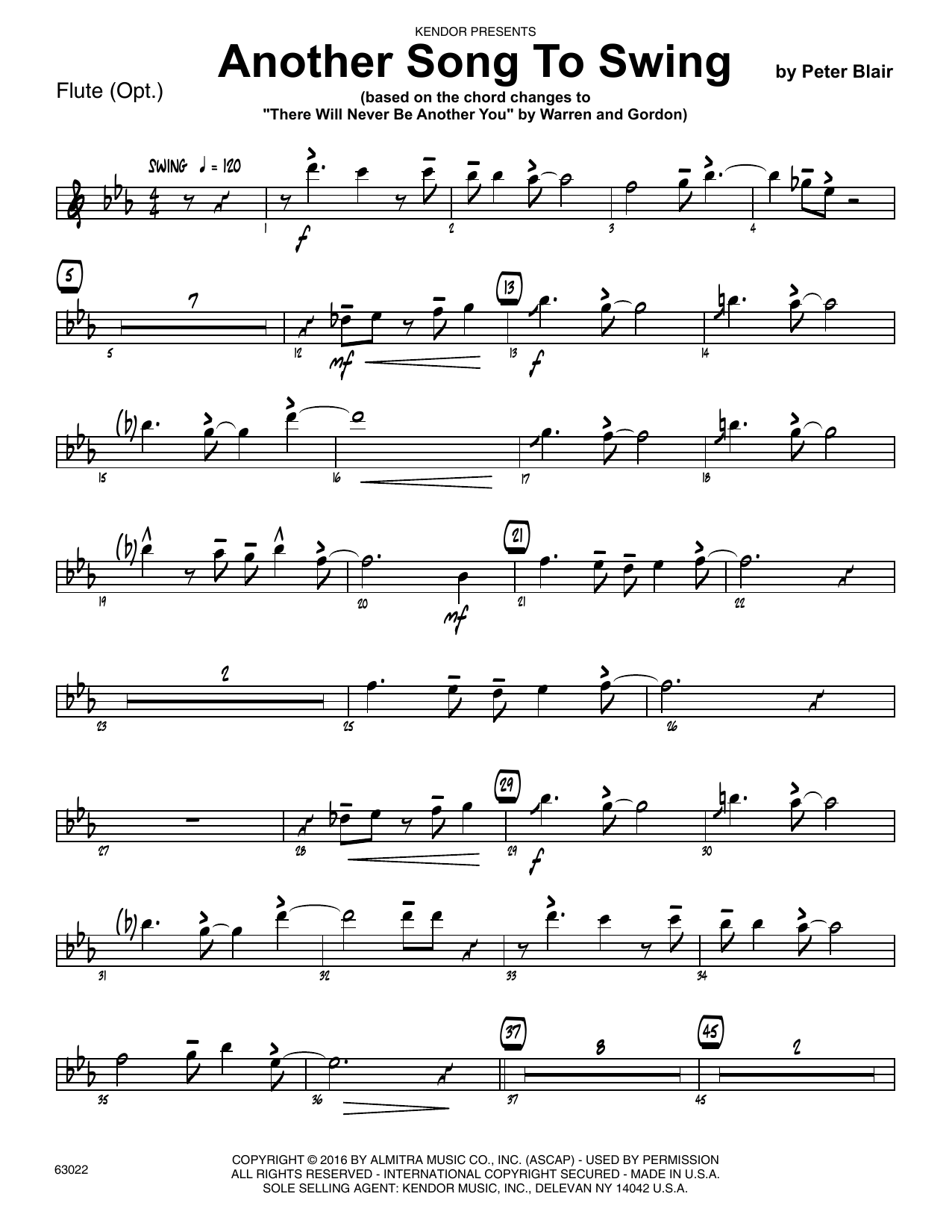 Another Song To Swing - Flute Sheet Music