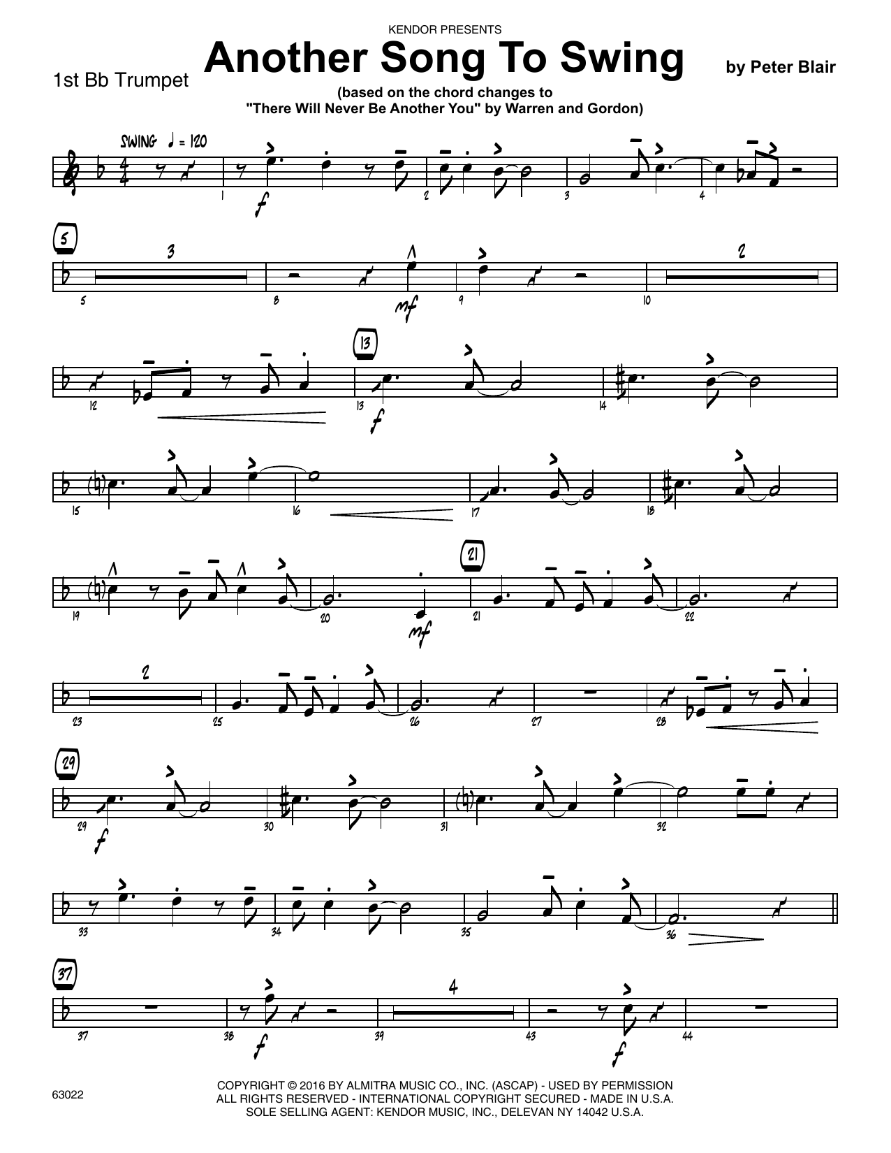 Another Song To Swing - 1st Bb Trumpet Sheet Music