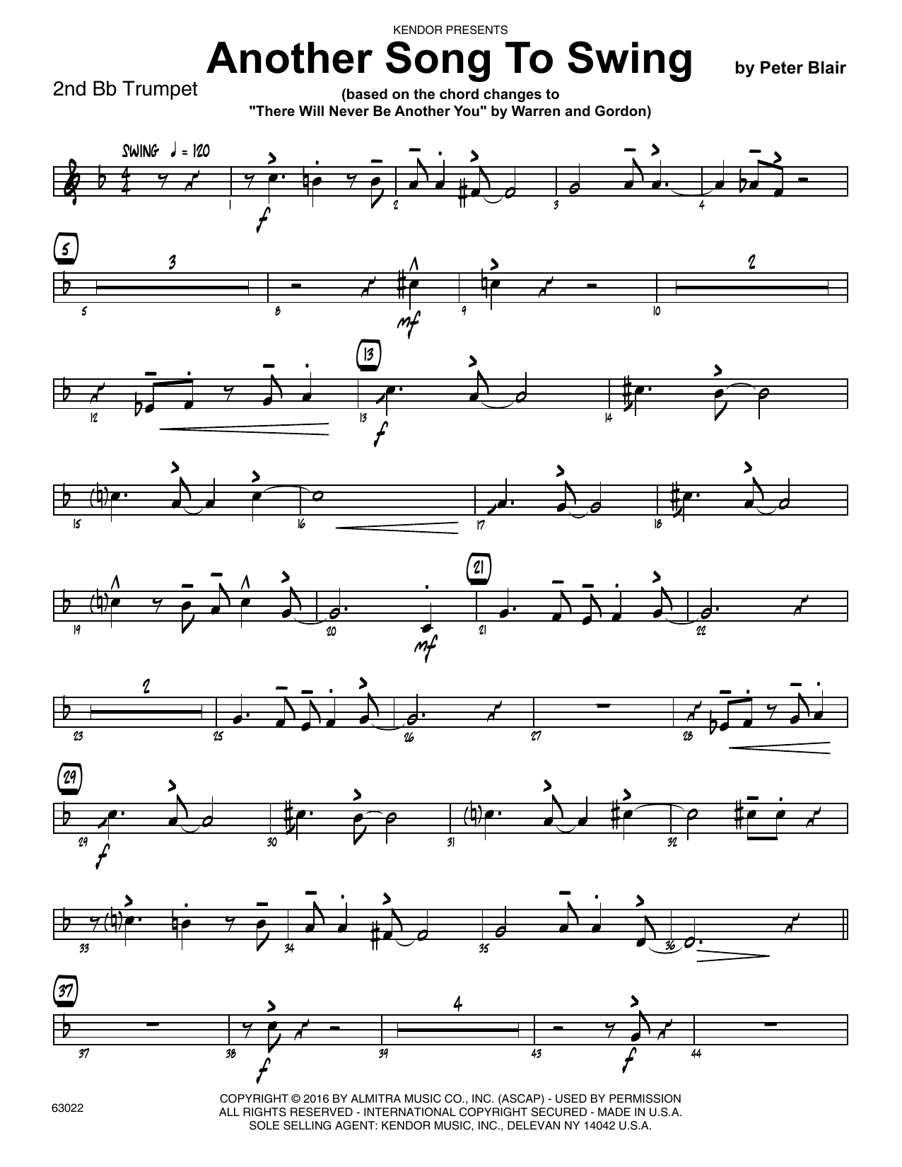 Another Song To Swing - 2nd Bb Trumpet Sheet Music