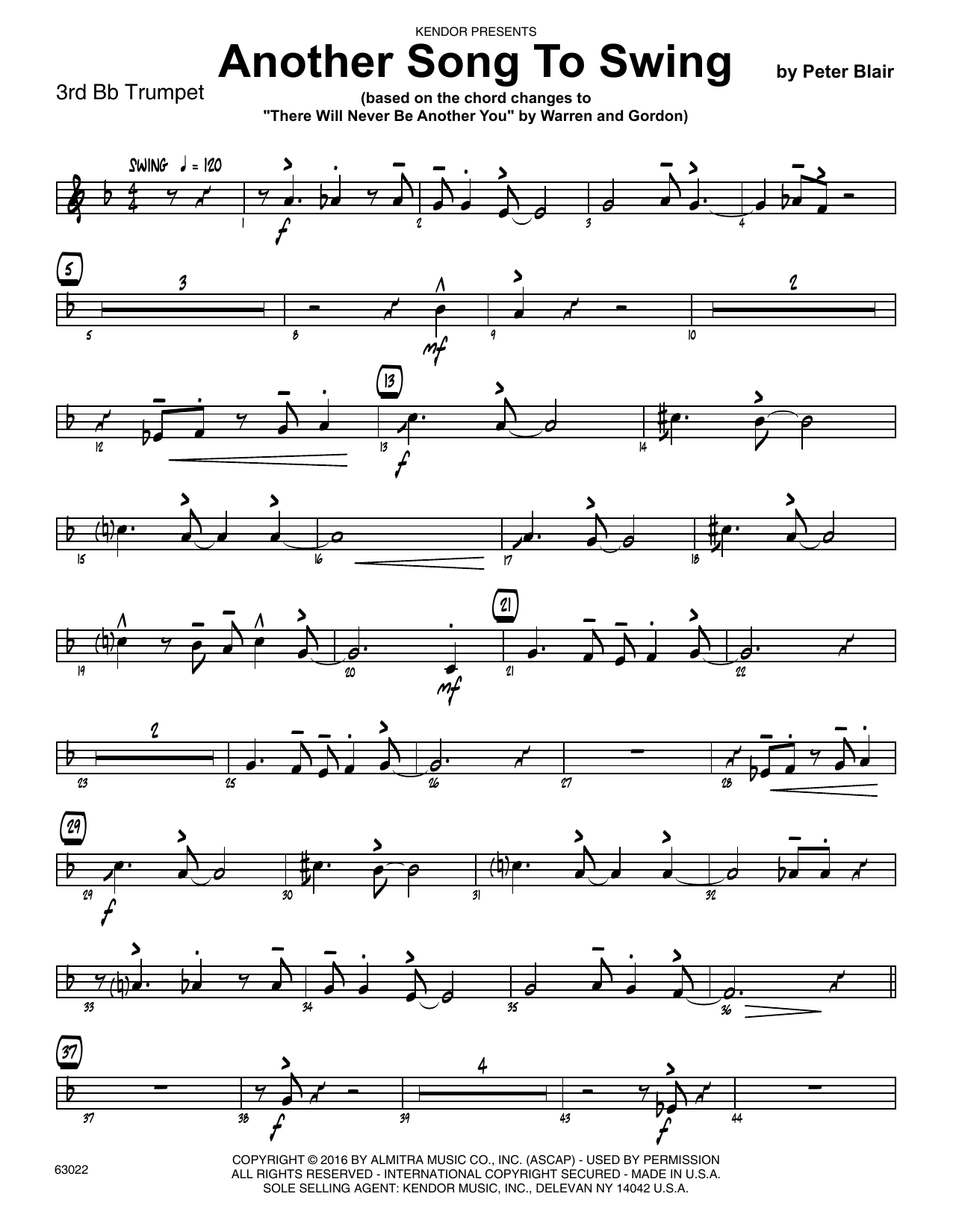 Another Song To Swing - 3rd Bb Trumpet Sheet Music