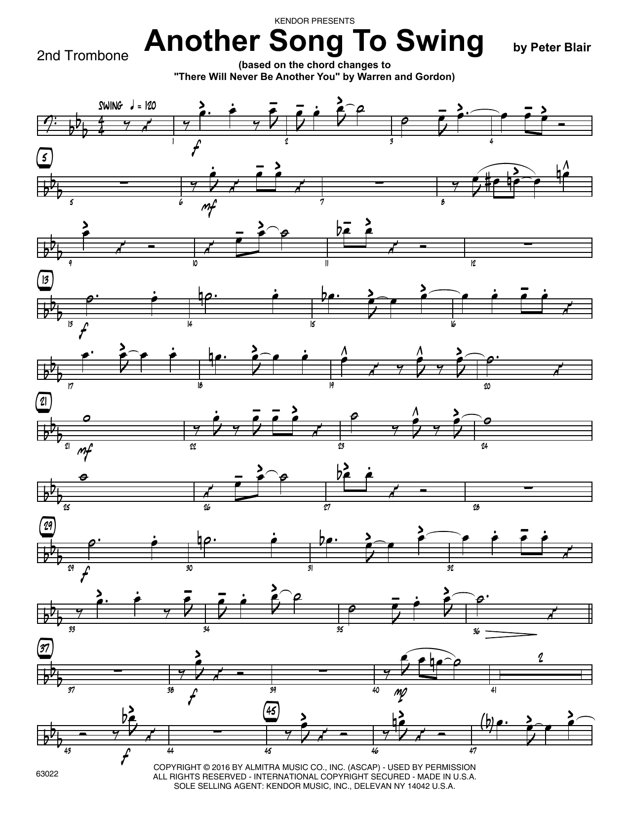 Another Song To Swing - 2nd Trombone Sheet Music