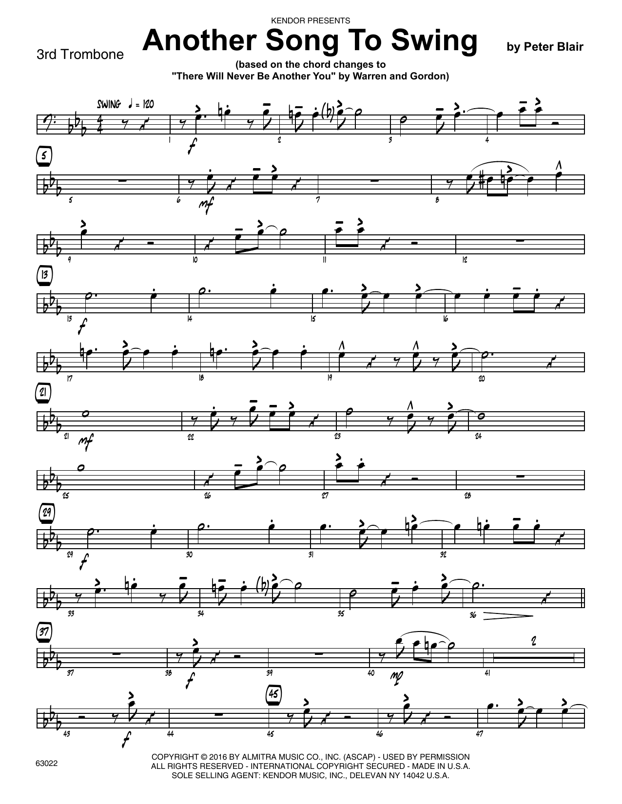 Another Song To Swing - 3rd Trombone Sheet Music