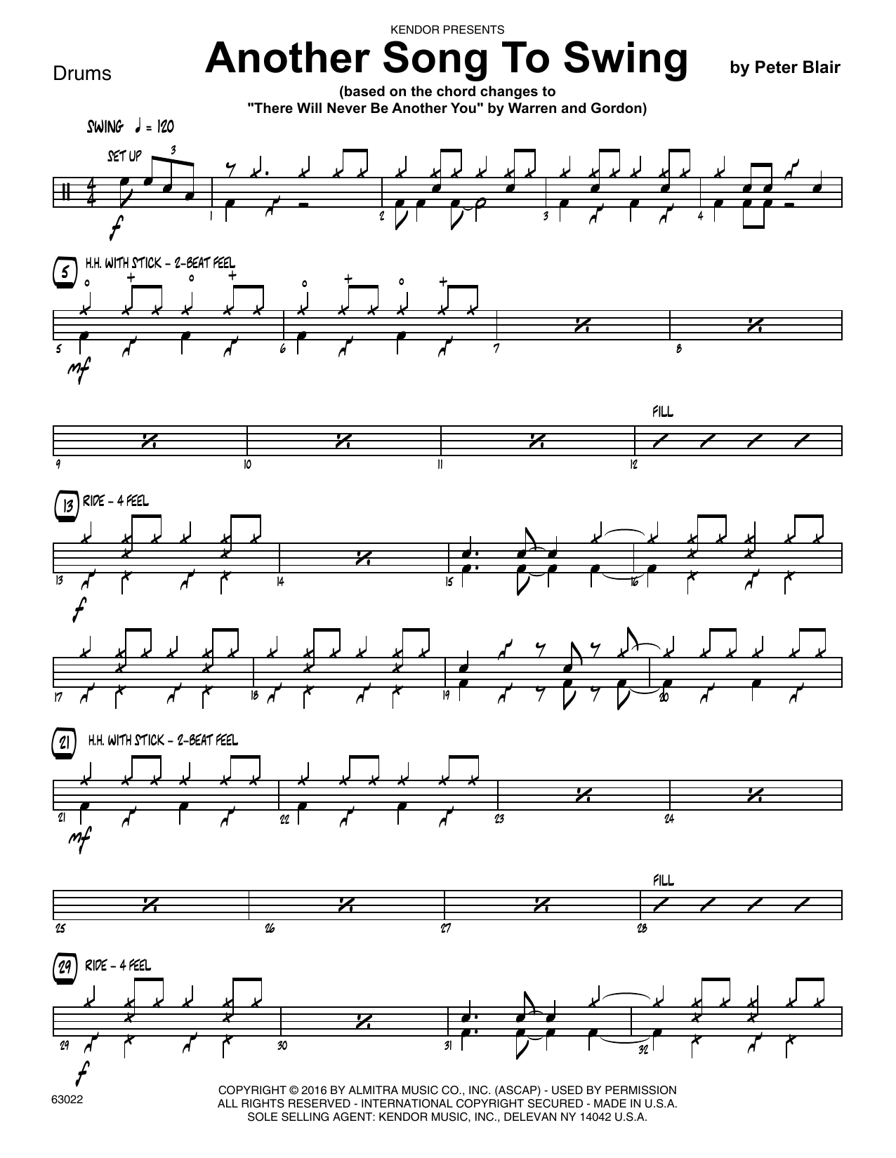 Another Song To Swing - Drum Set Sheet Music