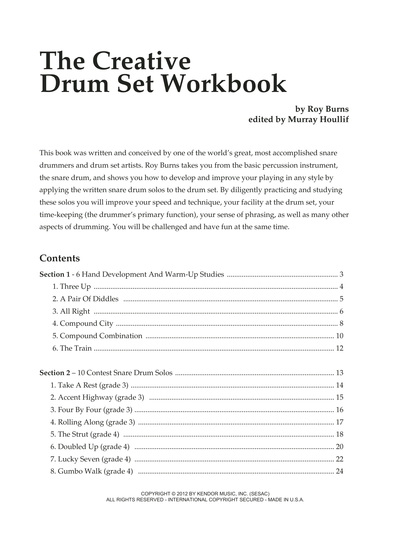 The Creative Drum Set Workbook Sheet Music