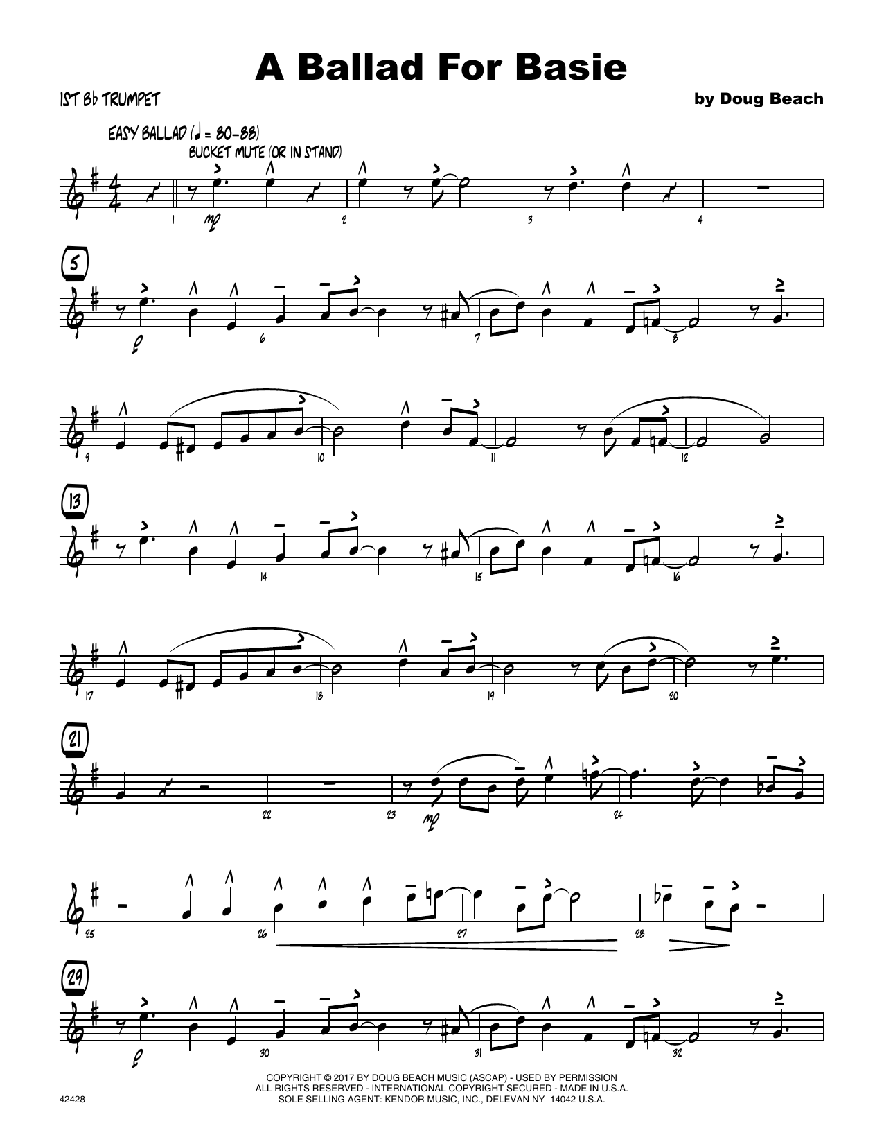 A Ballad For Basie - 1st Bb Trumpet Sheet Music