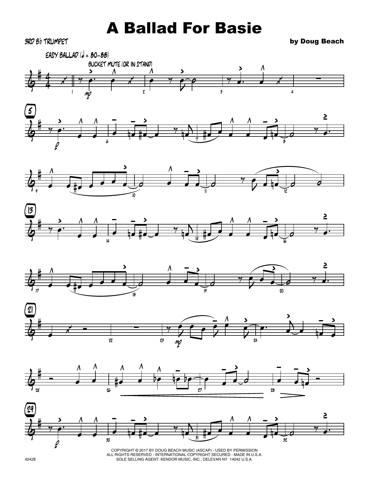 A Ballad For Basie - 3rd Bb Trumpet Sheet Music